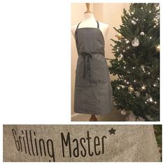 First order of 2017: a late Christmas gift for a grilling master. #23gobyflo #handmade #personalized #unique #simpleisbeautiful #manapron #apron #smoking #grilling #cooking #chef #mancooking #cookout #denim #gray #mangift #manlygift #bbq #minimal #minimalist