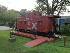 The old station museum is an adorable old train caboose. It's located right by the Mahwah Train Station and very close to the post office and Mahwah Museum. It's only open on Sundays in the summertime.