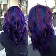 Blue & purple highlights
