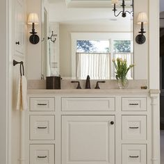 Traditional Bathroom Black Granite Countertop On White Cabinet Design, Pictures, Remodel, Decor and Ideas - page 8