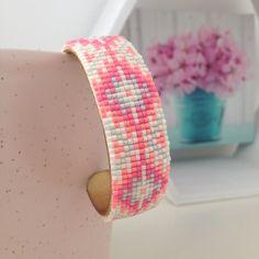"Bracelet manchette en perles tissées ""summer"" : Bracelet par bo-m15"