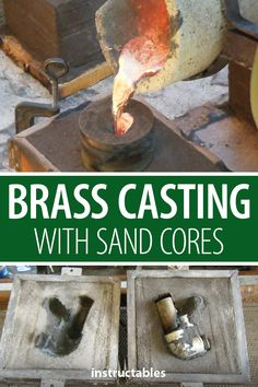 Learn how to do brass casting with sand cores. A good skill to learn to cast pieces that are no longer obtainable. Aluminum Molding, Plastic Moulding, Diy Molding, Casting Aluminum, Metal Casting, Concrete Lamp, Concrete Design, Metal Projects, Metal Crafts