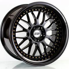 18x8.5/18x9.5 ESR SR01 Glossy Black 5-114 ET30/22 fit LEXUS IS250 Accord G35
