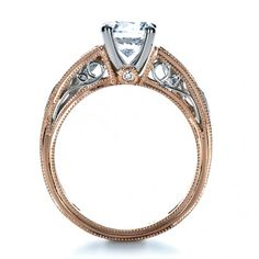 rose gold engagement rings rose gold diamond engagement ring joseph jewelry seattle bellevue