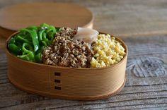 いつかのシンプル三色丼。 ・・ #弁当#bento#lunchbox