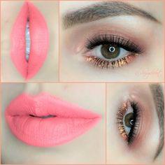 Anastasia Beverly Hills liquid lipstick in Retro Coral www.daisysandersmakeup.com