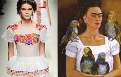 Alberta Ferreti   Frida Kahlo y la tradición mexicana fueron la inspiración de esta diseñadora italiana para su colección Primavera-Verano 2014.