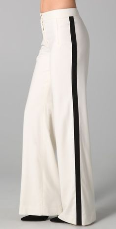 a dapper tuxedo pant for gals--could definitely see this for a cocktail party or wedding
