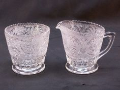 Anchor Hocking may be glass hobnail and scroll with flowers (roses?) possibly Sandwich Glass$ List Price $2.99 + 7.50