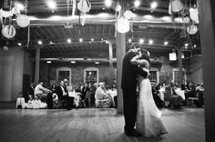 Black and white wedding dance photo!