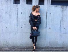 #grafea #オールブラック #今日のコーデ #ブラック #レザーバッグ #ショルダーバッグ #レザー #ファッション #モデル #日本 #黒 #moda #derisırtçanta #blog #tarz #seyahat #sonbahar #güzellik