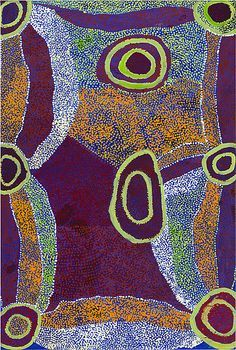 Aboriginal art--aren't the colors here amazing?