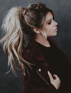 Elegant and gorgeous braided high ponytail hairstyles trends for women to wear on special occasions. If you feeling bored with simple or low ponytail hairstyles then you have to visit here to see the most fresh and modern ideas of ponytails for braided hair looks. Use these awesome trends o braided hairs for nowadays.
