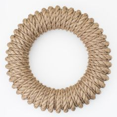 the hampton wreath. a year-round wreath made of marine-grade rope. Available at Sage Market + Design