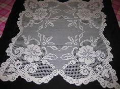 Crochet Doily Patterns, Thread Crochet, Filet Crochet, Crochet Doilies, Knit Crochet, Lace Stencil, Crochet Tablecloth, Handicraft, Christmas Fun