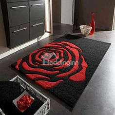 hallway carpet anti-skid water sucktion carpets black and red rose mats