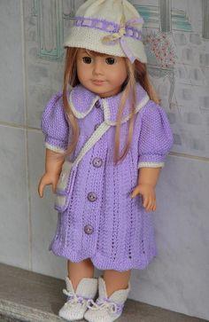 Modell 0065D Carla - knitting patterns for dolls