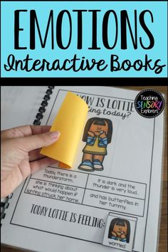 Emotions Interactive Lift-the-flap Books Teaching Emotions, Autism Teaching, Teaching Social Skills, Feelings And Emotions, Teaching Resources, Elementary School Counseling, Kindergarten Classroom, Elementary Schools, Counseling Crafts