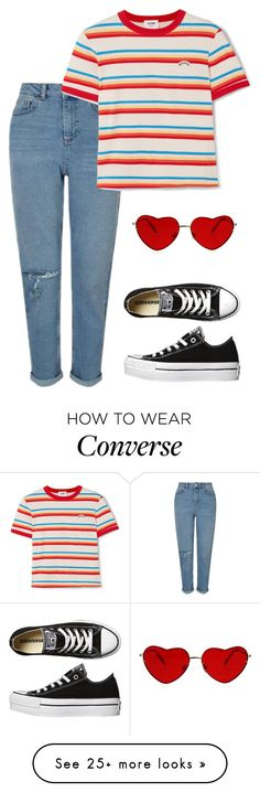 """""""Untitled #784"""" by rainbowheadass on Polyvore featuring Converse, Miss Selfridge and RE/DONE"""