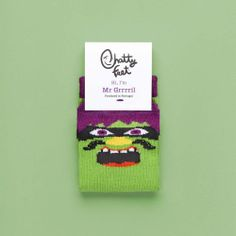Grrrril Jr is the perfect pair of socks for budding acrobats. These colourful and funny kids's socks are just the thing when you need to be nimble on your feet.