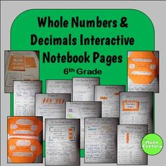 Whole Numbers and Decimals Interactive Notebook:  This is a set of interactive notebook pages that cover the following skills:Place and valueStandard formWord formExpanded formComparing decimalsOrdering decimalsRounding decimalsCompatible numbersEstimating in word problemsAssociative Property of MultiplicationAssociative Property of AdditionCommutative Property of MultiplicationCommutative Property of AdditionIdentity Property of 1Identity Property of 0Order of OperationsMultiplying…
