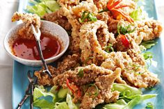 Pile crunchy salt and pepper chicken onto a bed of crisp lettuce, then just add lime to squeeze, chilled wine and a balmy summer night. This is definitely a dish for Hubby and the kids to make! Love the idea of swapping the chicken for sliced field mushrooms too.