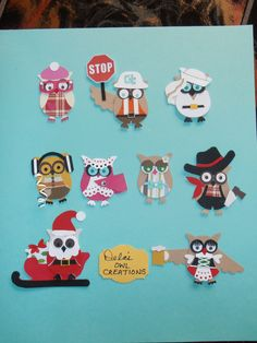 Stampin' Up! Owl Punch Art (ok I need this stamp! Owl Crafts, Paper Crafts, Owl Punch Cards, Paper Punch Art, Karten Diy, Owl Card, Animal Cards, Kids Cards, Baby Cards