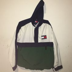 Tommy Hilfiger Windbreaker Green, White, and Blue Vintage Windbreaker. *NO TRADES* Tommy Hilfiger Other