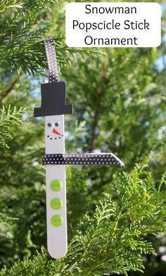 Snowman Popsicle Stick Ornament