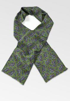 Schlauchschal Paisleys waldgrün