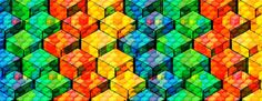 Nice colorful cubic pattern. Q-Bert gone psychedelic drugs!