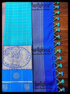 Best Bridal Saree Tassel Kuchu from Krishne Tassels Saree Tassels Designs, Saree Kuchu Designs, Wedding Saree Blouse Designs, Silk Saree Blouse Designs, Blouse Patterns, Silk Saree Kanchipuram, Silk Sarees, Bollywood, Stylish Blouse Design