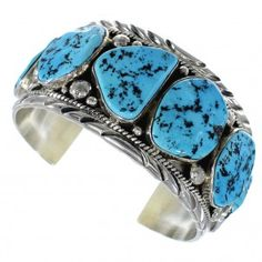 Sleeping Beauty Turquoise Silver American Indian Bracelet EX45686