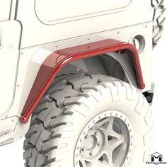 """6"""" Jeep Rear Fender Flare, TJ/LJ/YJ/CJ"""
