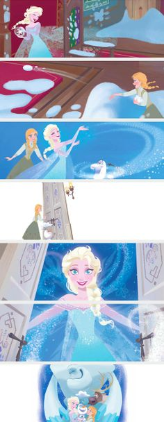 An Amazing Snowman ||| Elsa and Anna ||| ...She opened the door!!! This makes me so happy.