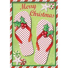 18e7623616f8 IAmEricas Flags - Merry Christmas Flip Flops House Flag