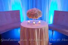 Lighting + Sheers = Beautiful  GrooveEvents.us