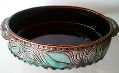 Beautiful Handmade Oval Casserole/Baking Dish (made to order). $95.00, via Etsy.