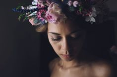 Floral crown | Photography by http://www.roncaglioneweddingphotographers.com/