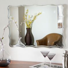 Find it at the Foundary - Frameless Ridge Wall Mirror