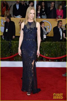"Nicole Kidman.    SAG Awards 2013.    ""Vivienne Westwood Couture's gown, Fred Leighton jewels and Manolo Blahnik shoes."""