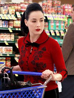 Pin-Up Perfect: Dita Von Teese's New Cardigans | People.com