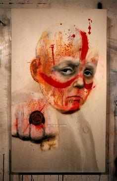 Esta idea de creación hizo que siempre sea un apasionado del dibujo de rostros humanos #JonathanDarby #arte