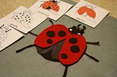 parts of a ladybug felt puzzle