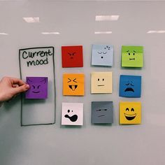 Use sticky notes to give your co-workers a heads up on your current mood as they approach your desk. #WorkHappier