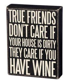 Love this 'True Friends' Block Sign on #zulily! #zulilyfinds