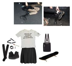 """ABUSE OF POWER"" by void-witch ❤ liked on Polyvore featuring Boohoo, Converse, UNIF and Aéropostale"
