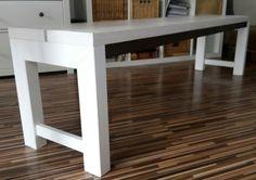 Holzbank in weiß 135€