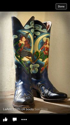 Decorated boots just get better all the time.