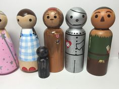 Wizard of Oz Peg People PegBuddies Doll figurines by PegBuddies